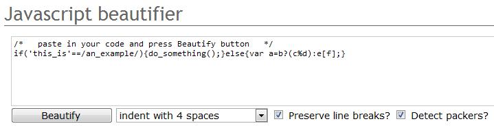 Javascript Beautifier